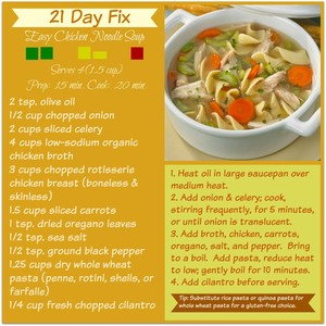 21 day fix easy chicken noodle soup millennial mom copy me that