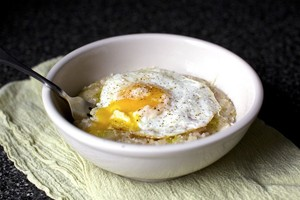 Bacon, Egg and Leek Risotto | Ebannon | Copy Me That