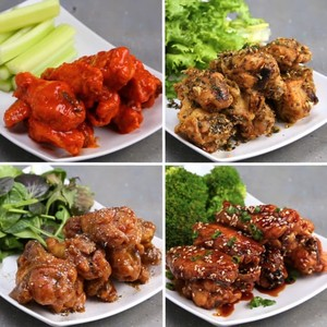 Baked chicken wings 4 ways thefeltedfox copy me that forumfinder Image collections