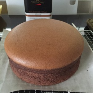 Chocolate Sponge Cake Cooked Dough Method Rebecca Sii Copy Me That