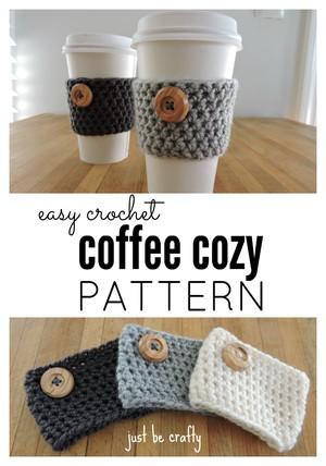 Crochet Coffee Cozy Pattern Grammasherri Copy Me That