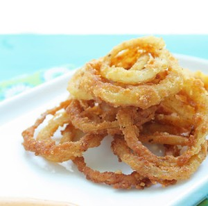 how to make onion ring batter without milk and eggs