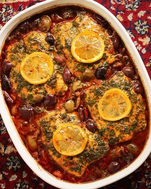Moroccan fish tagine with ginger saffron erin h copy for Moroccan fish recipe