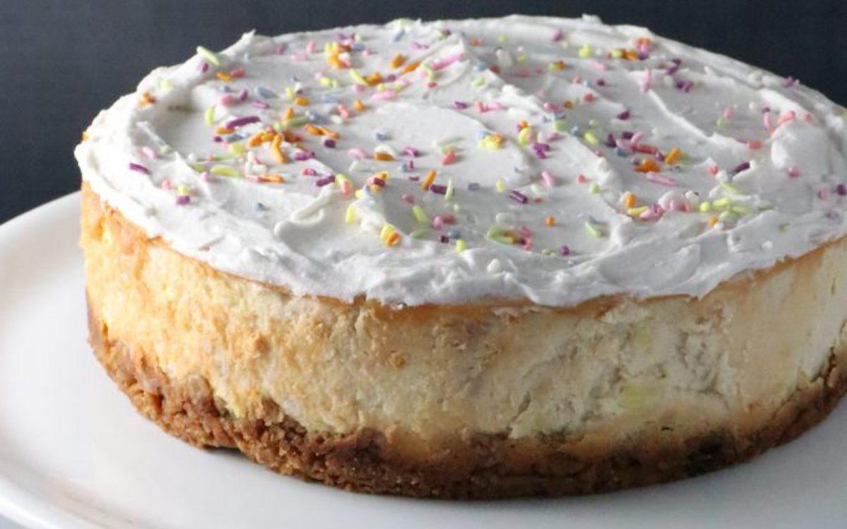 Birthday Cake Cheesecake With Sugar Cone Crust Vegan Gluten Free