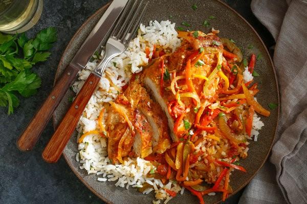 Картинки по запросу chicken fillet and peppers