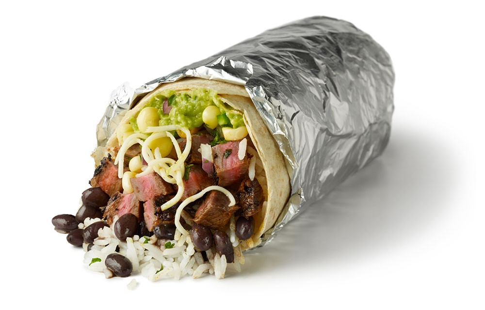 Image result for steak burrito chipotle