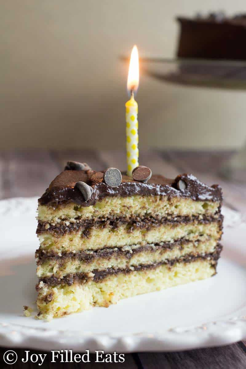 Classic Yellow Keto Birthday Cake With Chocolate Icing Spoildmom