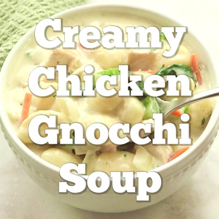 creamy chicken gnocchi soup olive garden copycat monica brogan copy me that - Chicken Gnocchi Olive Garden