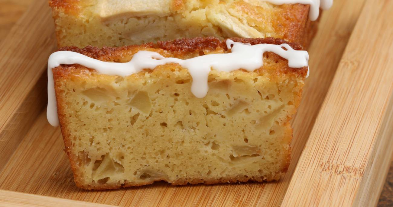 Frosted Buttermilk Apple Cake Loaf Candy321 Copy Me That