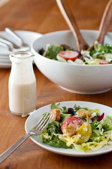 copy cat olive garden salad and dressing recipe melba martin copy me that - How To Make Olive Garden Salad