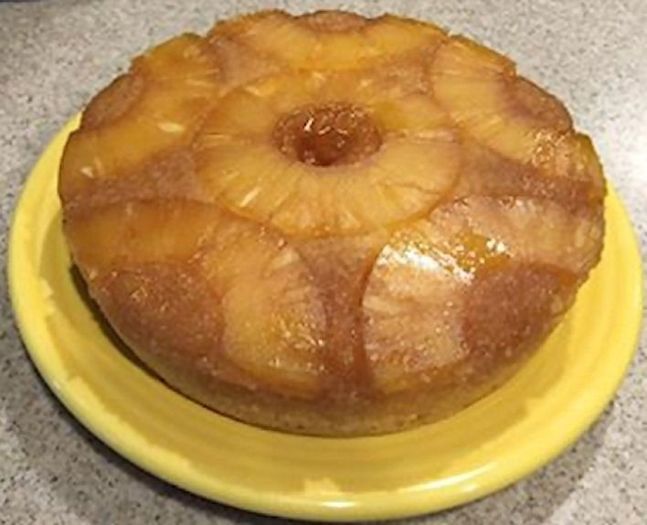Pineapple Upside Down Cake With Yellow Box Cake Mix
