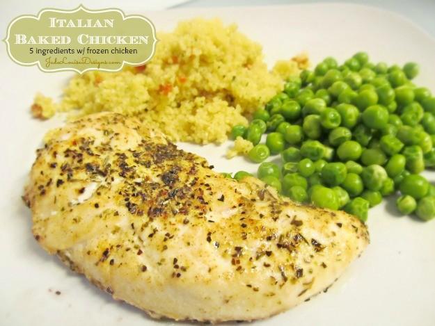 Italian Baked Chicken Recipe 5 Ingredients Frozen Chicken Nicole