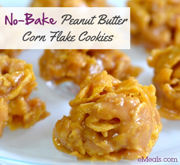 No Bake Chocolate Cornflake Cookies