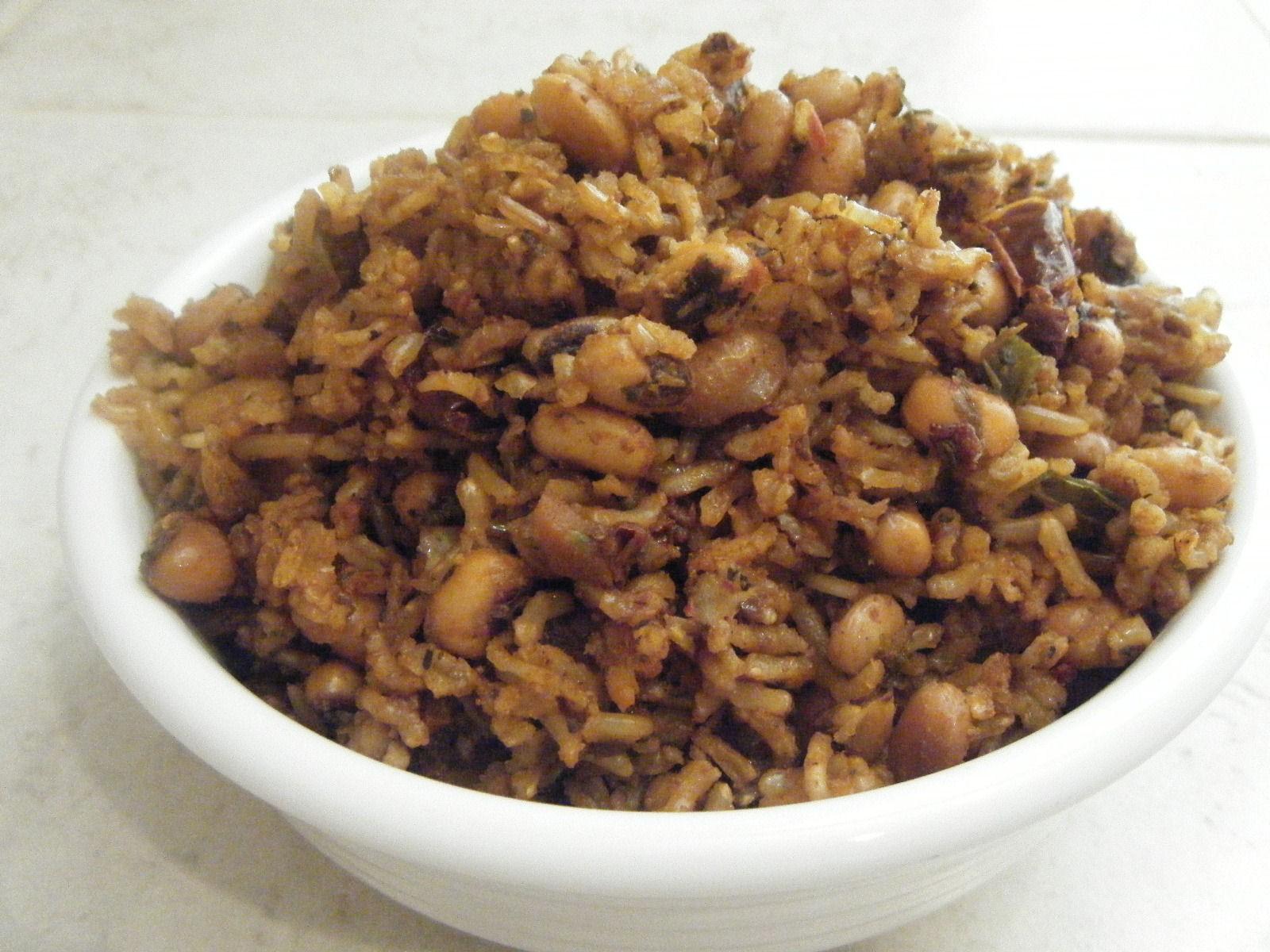 Spicy Brown Rice Amp Black Eyed Peas Instant Pot Josie