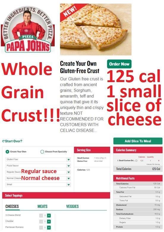 Papa John S Whole Grain Gluten Free Pizza Transformers Copy Me That