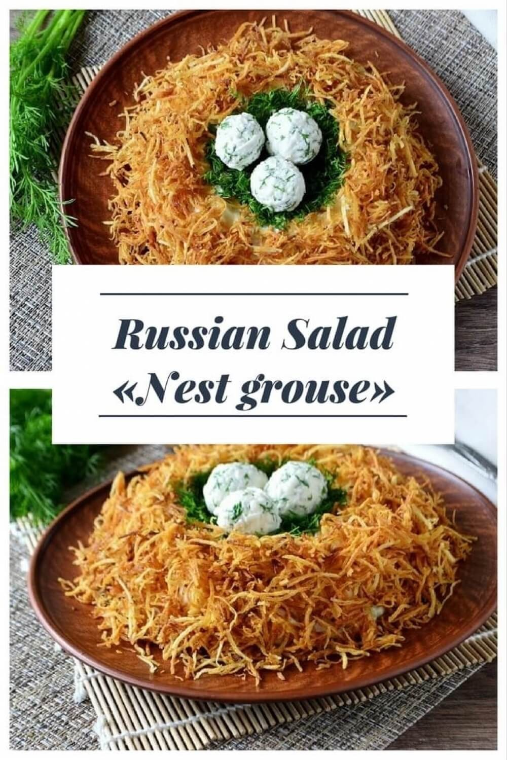 Salad Grouse Nest: a recipe with a detailed description and photos 35