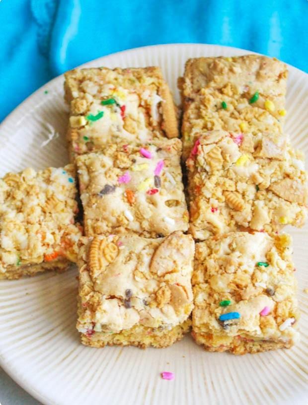 Sallys Baking Addiction Golden Oreo Cake Batter Blondies Lindsay