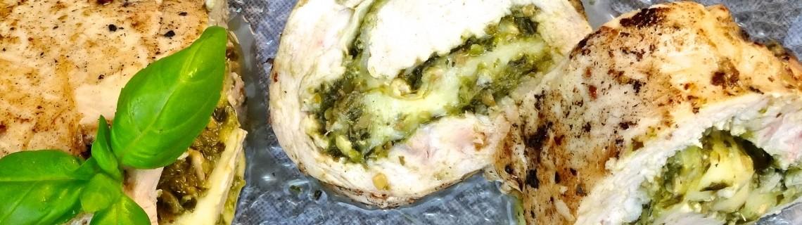 sous vide pesto and mozzarella chicken roulade bobby corsica