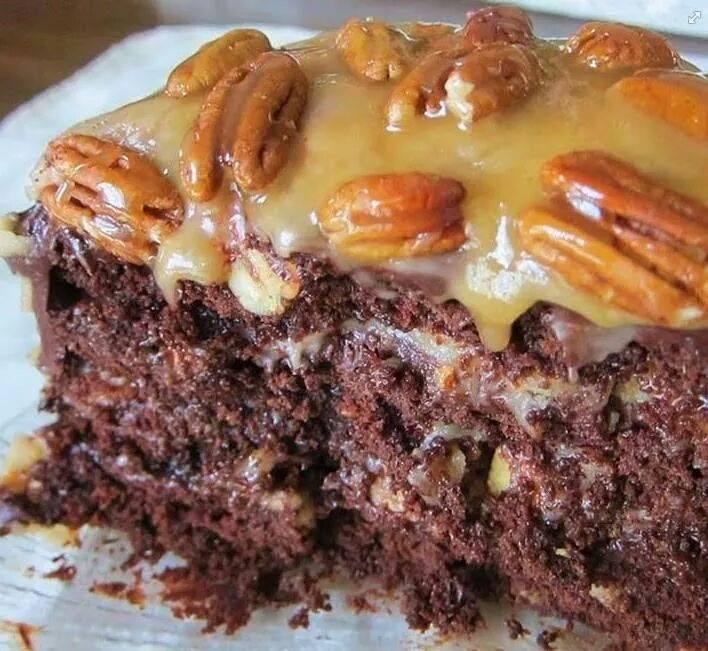 turtle caramel cake