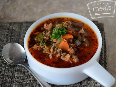 Wild Rice Soup with Sausage and Vegetables | JThorp | Copy ...