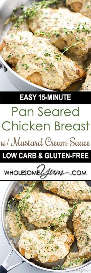 Pan Seared Chicken Breast Recipe With Mustard Cream Sauce Oolichan
